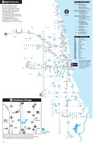 Downtown Chicago Map by Chicago Night Bus Map U2022 Mapsof Net