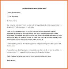 8 letter of resignation two weeks notice resignition letter