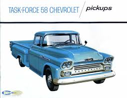 Oldride Classic Trucks Chevrolet - 1958 chevrolet task force pickup brochure photo picture