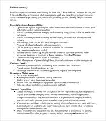 Job Description For Cashier For Resume by Sample Cashier Resume 5 Documents In Pdf