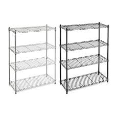 Bed Bath And Beyond Shelves by Commercial Grade 4 Tier Shelving Unit Bed Bath U0026 Beyond