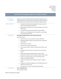 Investment Banking Resume 28 Resume For Business Analyst Investment Banking