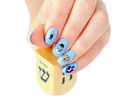 hanukkah nail decals midrash manicures