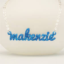 acrylic name necklace custom laser cut acrylic name necklace ottava designs