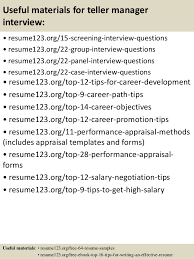 Sample Resume For Teller by Top 8 Teller Manager Resume Samples