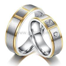 name wedding rings images Men and women titanium wedding rings set with name personalized jpg