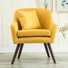 Single Living Room Chairs Mid Century Modern Style Armchair Sofa Chair Living Room Furniture