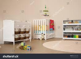 children room toys small bed stock illustration 166837736