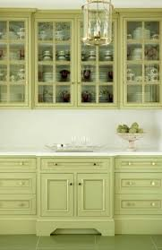painted kitchen cabinet ideas and green white combinations in