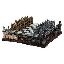 pewter u0026 glass fantasy chess set