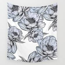 Floating Flowers Floating Flowers Wall Tapestry By Mgracepfender Society6