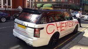 hope she was worth it u0027 spray painted on range rover car bbc news