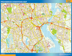 United States Wall Map Laminated by Providence Downtown Map Netmaps Usa Wall Maps Shop Online