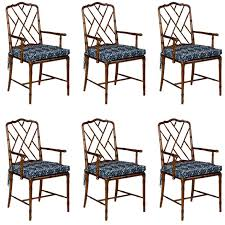 Bamboo Chairs For Sale Set Of Six Faux Bamboo Chairs For Sale At 1stdibs