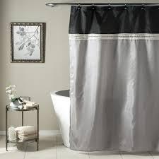 Lush Shower Curtains Lush Decor Terra Shower Curtain Black Silver Shower Curtain Ideas