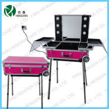 makeup case with lights and mirror makeup station with lights and mirror jinhua hengxin case bag