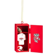 wisconsin badger christmas ornaments holiday decorations uwshop
