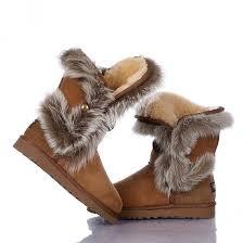 womens fur boots uk fox fur boots 5531