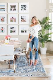 the 1 brilliant way this fashion blogger made her glam dining room