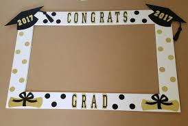 graduation frame black and gold graduation frame great as a photo booth prop or