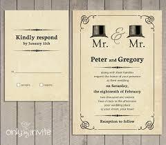 same wedding invitations mr and mr wedding invitation printable vintage hats same