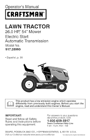 craftsman lawn mower yt 4500 user guide manualsonline com