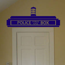 compare prices on police box decal online shopping buy low price creative doctor who tardis police box wall decals transfer sign vinyl wall sticker for children