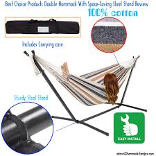 best choice products double hammock space saving steel stand review