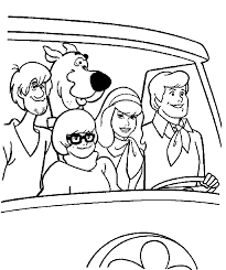 cartoon mystery scooby doo coloring pages kids womanmate