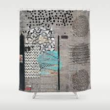 Gray And Teal Shower Curtain Cases Shower Curtains Society6