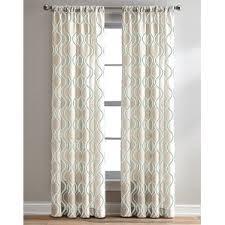 Sheer Off White Curtains Geometric Curtains U0026 Drapes You U0027ll Love Wayfair