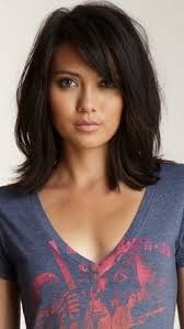sliced layered chin lengt bob with bangs just got this hair cut love it hairstyles to try pinterest