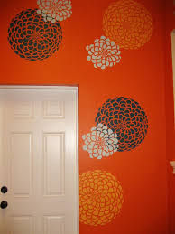 Floral Wall Stencils For Bedrooms 65 Best Color Me Orange Images On Pinterest Cutting Edge