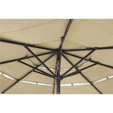 Aluminum Patio Umbrellas by Outdoor Expressions 9 Ft 3 Tier Aluminum Tilt Crank Patio
