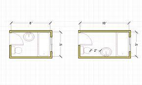 bathroom drawing plan