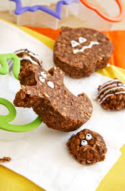 spooky no bake chocolate oatmeal cookies src natural noshing