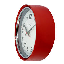 buy leni essential wall clock red online purely wall clocks