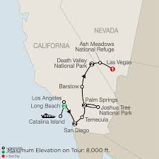 Map Of Death Valley Southern California Vacation Globus Tours