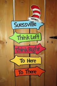 themed signs story book inspired whimsical directional signs party sign