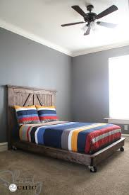 How To Make A Platform Bed With Pallets by Diy Barn Door Headboard Shanty 2 Chic