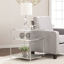 Mirrored Side Table Harper Blvd Knowles Glam Mirrored Side Table U2013 Chrome Free