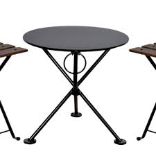 round bistro table outdoor french bistro round steel outdoor tripod folding coffee table detail