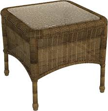 forever patio rockport square end table wicker com