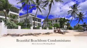 leith court beachfront condominium for sale in worthing barbados