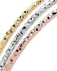 rose gold white gold bracelet images Italian gold 3 pc set tri color bangle bracelets in 14k gold tif