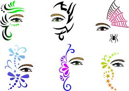 halloween makeup stencils trendy tribals inc full face and hair stencils eyes masks