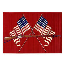 wolf rug spirit halloween donnieann american patriot design american flags and gun red 5 ft