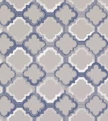 blue quatrefoil wallpaper quatrefoil wallpaper by osborne little jane clayton