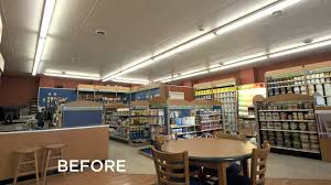 benjamin moore paint store gets cree led lighting makeover youtube