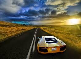Lamborghini Aventador On Road - lamborghini aventador j front transformer abstract car 2014